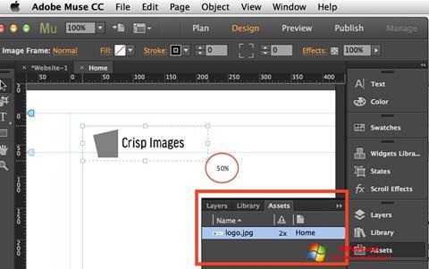Screenshot Adobe Muse for Windows 7