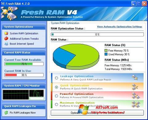 Screenshot Fresh RAM for Windows 7