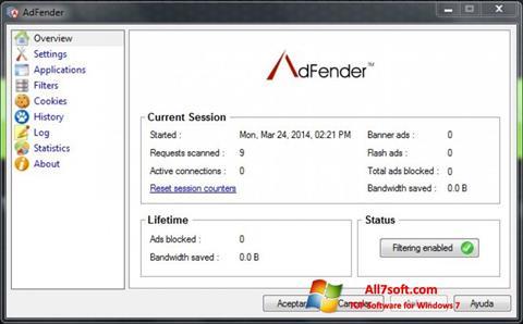 Screenshot AdFender for Windows 7