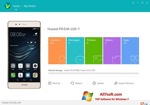 Screenshot Huawei HiSuite for Windows 7