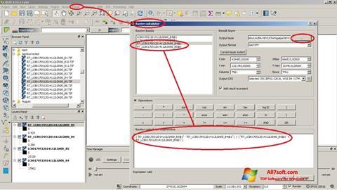 Screenshot QGIS for Windows 7