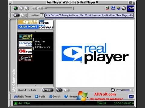 Screenshot RealPlayer for Windows 7