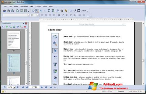 Screenshot Infix PDF Editor for Windows 7