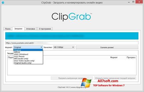 Screenshot ClipGrab for Windows 7