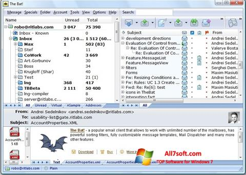 Screenshot The Bat! for Windows 7