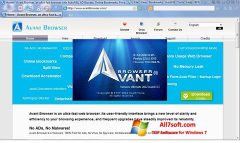 Screenshot Avant Browser for Windows 7