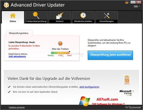 Screenshot Advanced Driver Updater for Windows 7