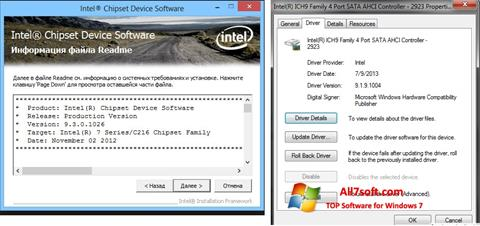 Screenshot Intel Chipset for Windows 7