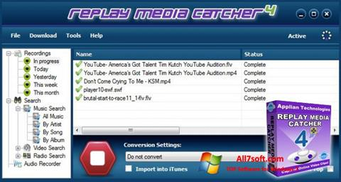 Screenshot Replay Media Catcher for Windows 7