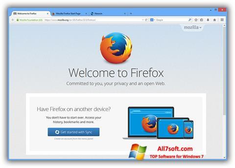 Screenshot Mozilla Firefox Offline Installer for Windows 7