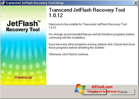 Screenshot JetFlash Recovery Tool for Windows 7