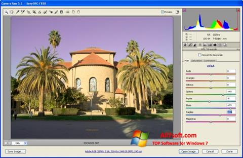 Screenshot Adobe Camera Raw for Windows 7