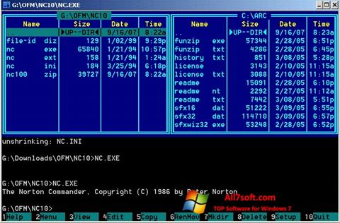 Screenshot Norton Commander for Windows 7