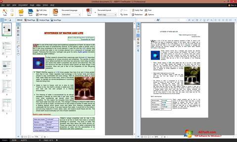 Screenshot ABBYY FineReader for Windows 7