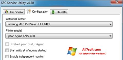 Screenshot SSC Service Utility for Windows 7