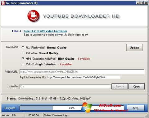 Screenshot Youtube Downloader HD for Windows 7