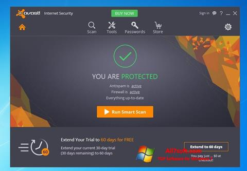 Screenshot Avast Internet Security for Windows 7