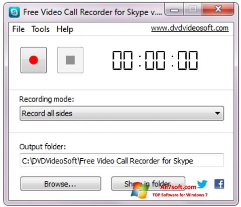 Screenshot Free Video Call Recorder for Skype for Windows 7