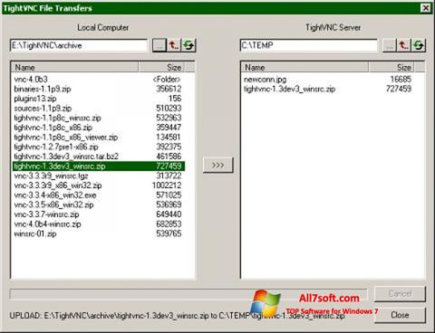 Screenshot TightVNC for Windows 7