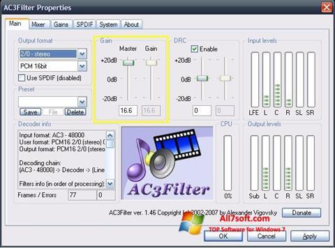 Screenshot AC3Filter for Windows 7