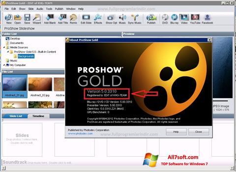 Screenshot ProShow Gold for Windows 7