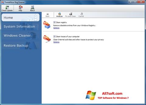 Screenshot TweakNow RegCleaner for Windows 7