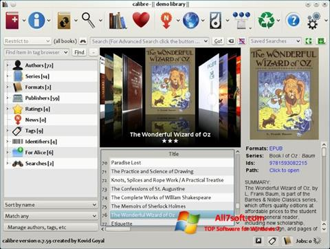 Screenshot Calibre for Windows 7