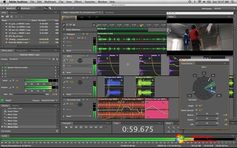Screenshot Adobe Audition for Windows 7