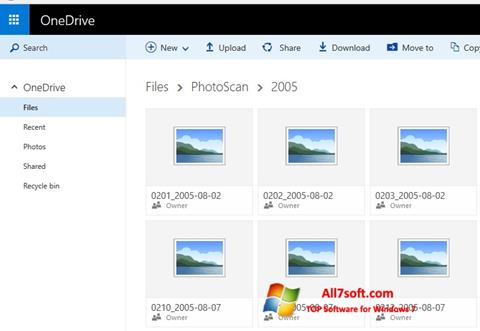 Screenshot OneDrive for Windows 7