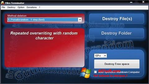 Screenshot Files Terminator for Windows 7