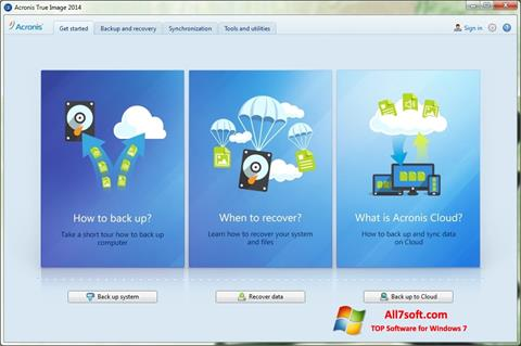 Screenshot Acronis True Image for Windows 7