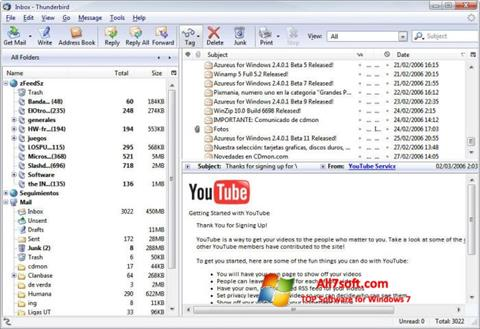 Screenshot Mozilla Thunderbird for Windows 7