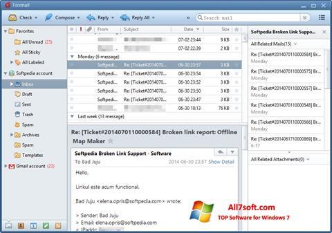 Screenshot FoxMail for Windows 7