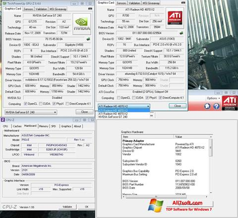 Screenshot GPU-Z for Windows 7