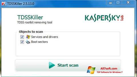 Screenshot Kaspersky TDSSKiller for Windows 7
