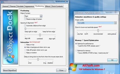 Screenshot ObjectDock for Windows 7