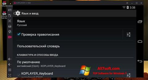 Screenshot KOPLAYER for Windows 7