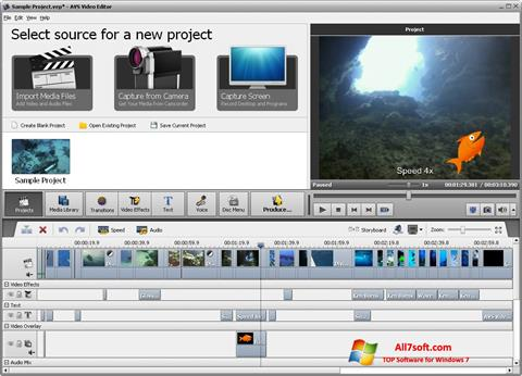 Screenshot AVS Video Editor for Windows 7