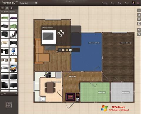 Screenshot Planner 5D for Windows 7