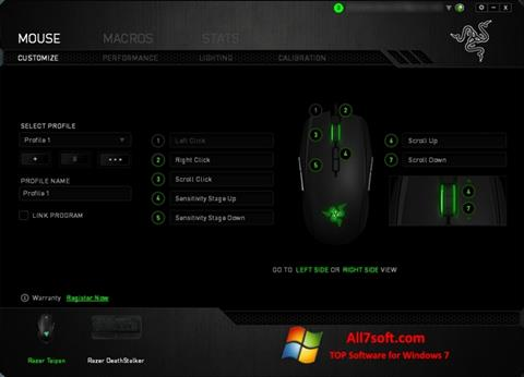 Screenshot Razer Synapse for Windows 7