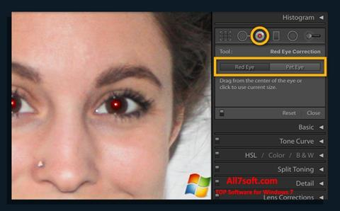 Screenshot Red Eye Remover for Windows 7