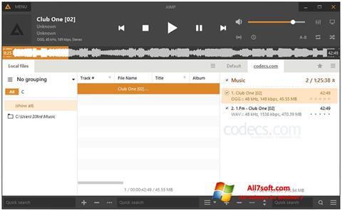 Screenshot AIMP for Windows 7