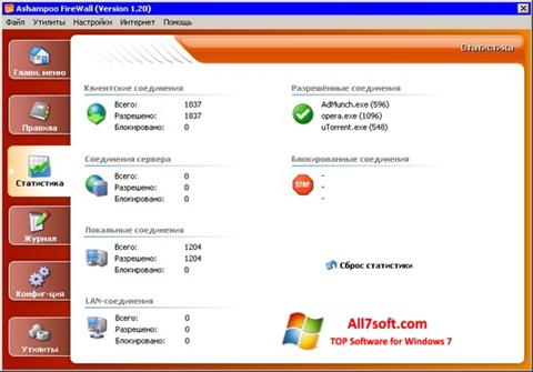 Screenshot Ashampoo Firewall for Windows 7
