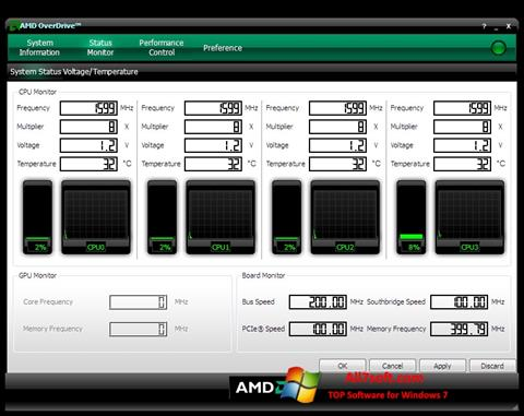 Screenshot AMD Overdrive for Windows 7