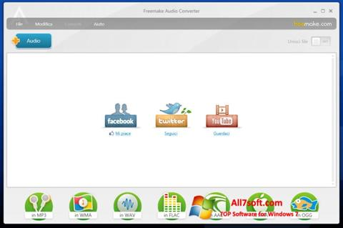 Screenshot Freemake Audio Converter for Windows 7