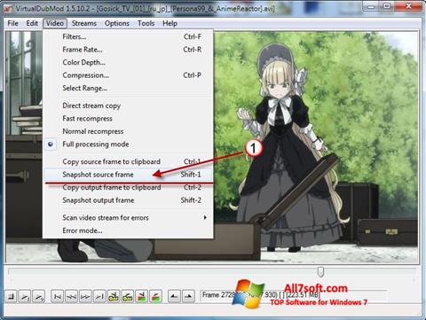 Screenshot VirtualDubMod for Windows 7