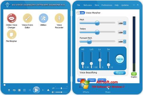 Screenshot AV Voice Changer Diamond for Windows 7