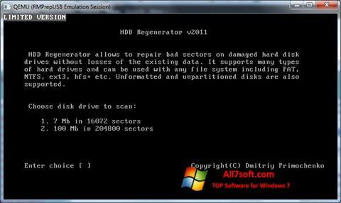 Screenshot HDD Regenerator for Windows 7