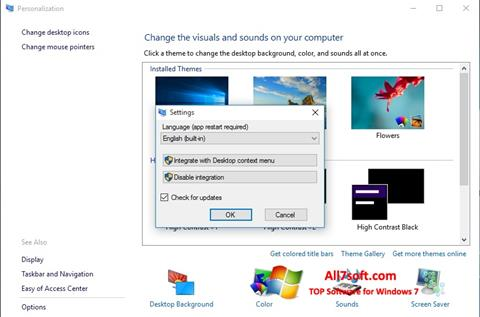 Screenshot Personalization Panel for Windows 7