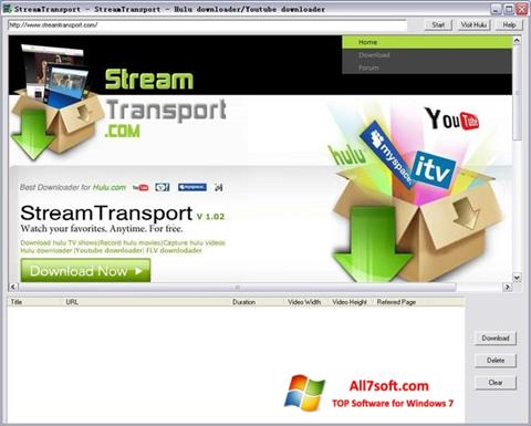 Screenshot StreamTransport for Windows 7